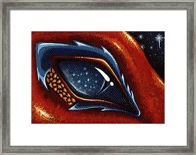 Soul Of The Starry Eyed Dragon Framed Print by Elaina  Wagner