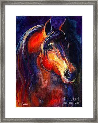 Soulful Horse Painting Framed Print by Svetlana Novikova