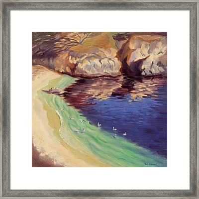 Soulful Sanctuary Point Lobos Framed Print by Karin  Leonard