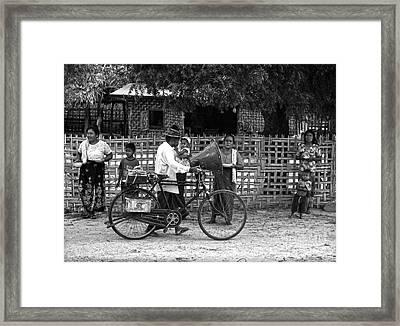 Sound Bike In Burma Framed Print by RicardMN Photography