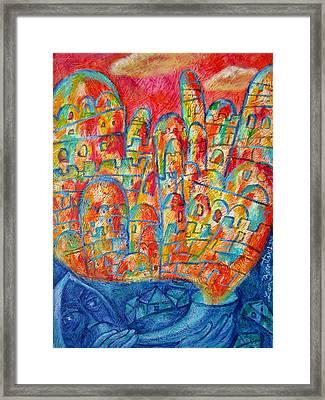 Sound Of Shofar Framed Print by Leon Zernitsky