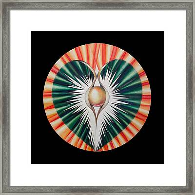 Sound Of The Heart Framed Print by Andrea Carroll
