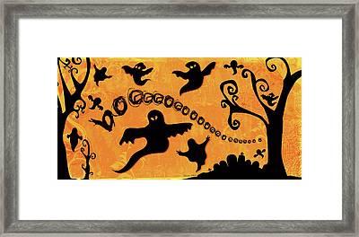 Sounds Like Halloween II Framed Print by Belinda Aldrich