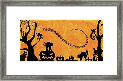 Sounds Like Halloween Iv Framed Print by Belinda Aldrich