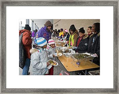 Soup Kitchen Framed Print by Jim West
