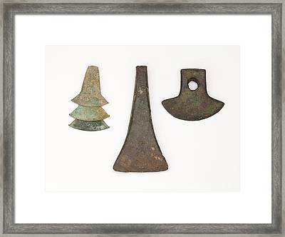 South American Bronze Age Axes Framed Print by Paul D Stewart