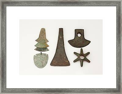 South American Bronze Age Objects Framed Print by Paul D Stewart