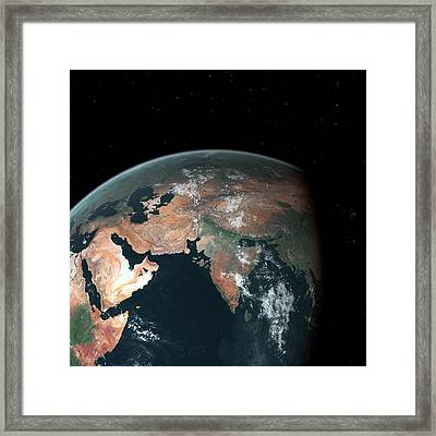 South Asia With Sea Level Rise Framed Print by Walter Myers