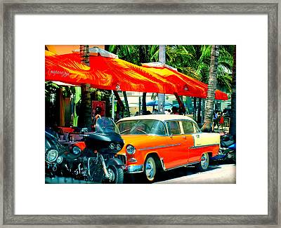 South Beach Flavour Framed Print by Karen Wiles