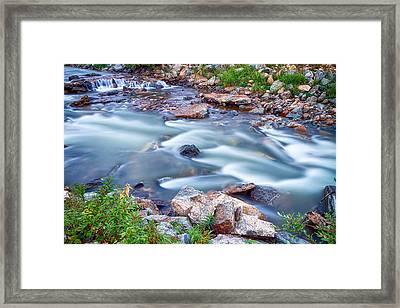 South Boulder Creek Little Waterfalls Rollinsville Framed Print by James BO  Insogna