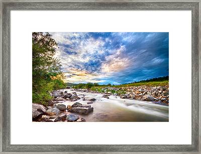 South Boulder Creek Sunset View Rollinsville Colorado Framed Print by James BO  Insogna