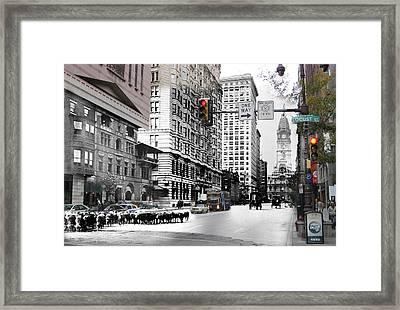 South Broad Street Sheep Framed Print by Eric Nagy