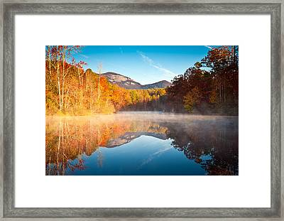 South Carolina Table Rock State Park Autumn Sunrise - Balance Framed Print by Dave Allen