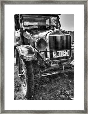 South Dakota Classic Bw Framed Print by Mel Steinhauer