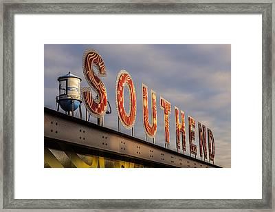 South End Framed Print by Chris Austin