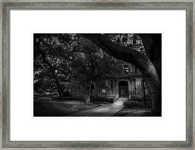 South Entry Black And White Framed Print by Marvin Spates