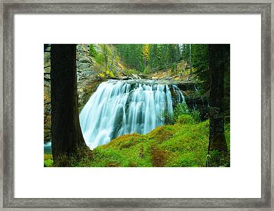 South Fork Falls  Framed Print by Jeff Swan