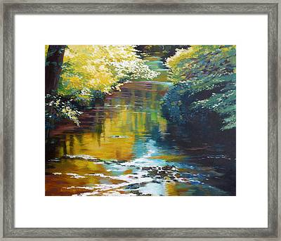 South Fork Silver Creek No. 3 Framed Print by Melody Cleary