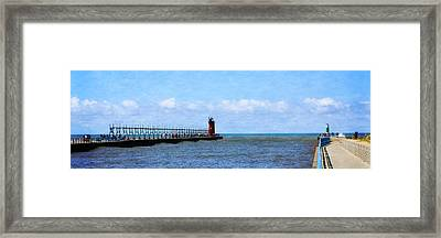 South Haven Channel Framed Print by Michelle Calkins