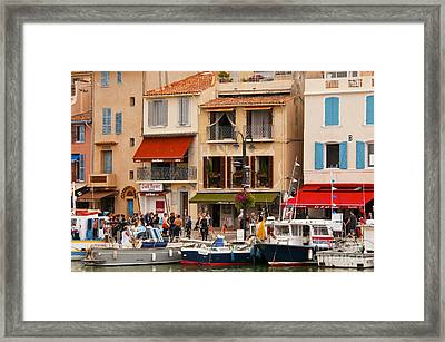 South Of France Fishing Village Framed Print by Bob Phillips