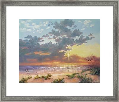 South Padre Island Splendor Framed Print by Carol Reynolds