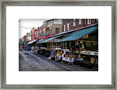 South Philly Italian Market Framed Print by Bill Cannon