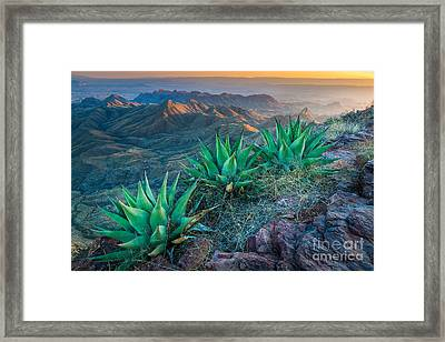 South Rim Sunset Framed Print by Inge Johnsson