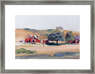 South Truro Post Office I Framed Print by Edward Hopper