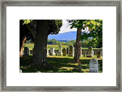 South West Corner Of Mumma Cemetery Framed Print by Patti Whitten
