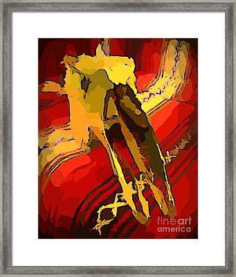 South Western Style Art With A Canadian Moose Skull  Framed Print by John Malone