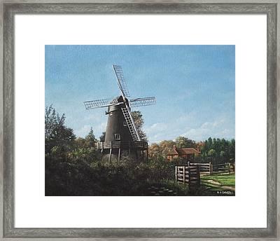 Southampton Bursledon Windmill Framed Print by Martin Davey