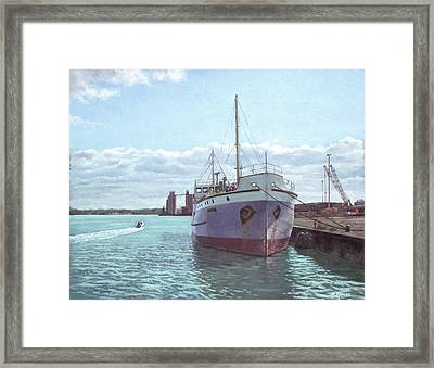Southampton Docks Ss Shieldhall Ship Framed Print by Martin Davey