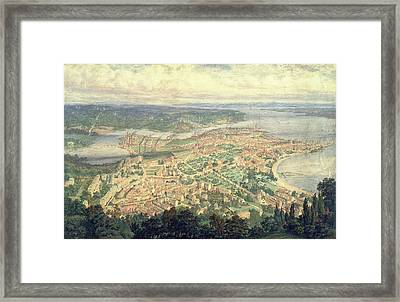 Southampton In The Year 1856 Framed Print by Philip Brannon