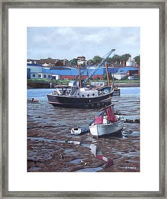 Southampton Northam Boats Framed Print by Martin Davey