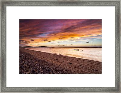 Southampton Shores Sunset Framed Print by Ryan Moore