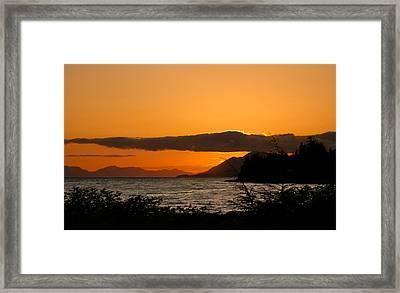 Southeast Alaska Sunset Framed Print by Michael J Bauer