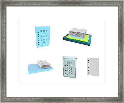 Southern Blot Dna Analysis Framed Print by Science Photo Library