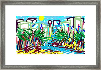 Southern City Storm Framed Print by Paul Sutcliffe