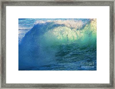 Southern Curl Framed Print by Marco Crupi