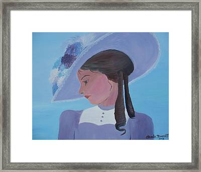 Southern Lady Framed Print by Glenda Barrett