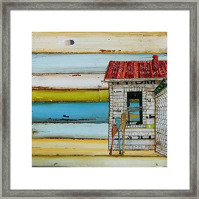Southern Maine Beach Shack Framed Print by Danny Phillips