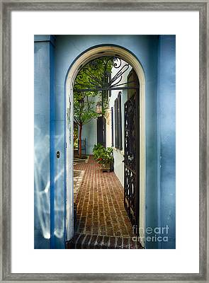 Southern Welcome In Charleston Framed Print by George Oze