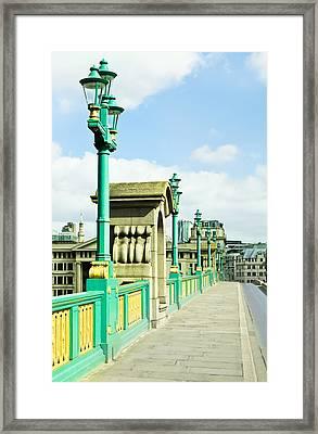 Southwark Bridge Framed Print by Tom Gowanlock