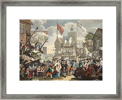 Southwark Fair, 1733, Illustration Framed Print by William Hogarth