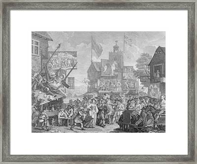Southwark Fair Framed Print by William Hogarth