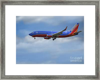 Southwest Airlines Jet Framed Print by D Wallace