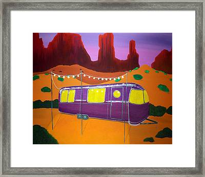 Southwest Contemporary Art - Sedona Twilight Framed Print by Karyn Robinson
