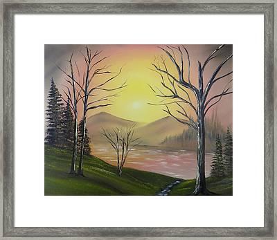 Southwest Sunrise Framed Print by Kevin  Brown
