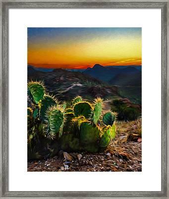 Southwestern Dream Framed Print by Chris Bordeleau
