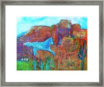 Southwestern Dreamscape  Framed Print by Anne-Elizabeth Whiteway